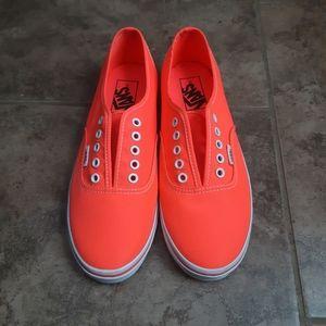 Vans Authentic LoPro Neon Coral Shoes Size 7